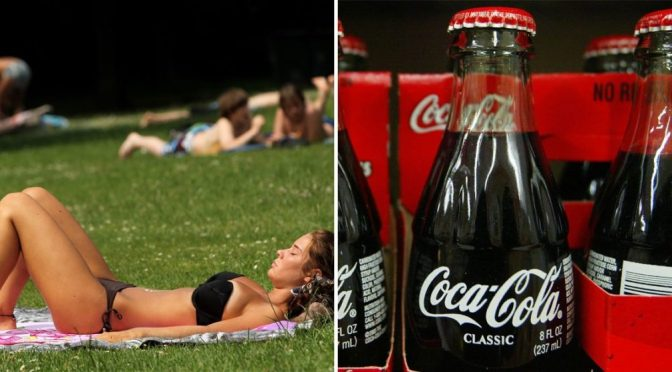 Δερματολόγος προειδοποιεί ότι η χρήση της Coca-Cola για την ενίσχυση του μαυρίσματος του δέρματος το καθιστά ευάλωτο σε όλα τα είδη ασθενειών!