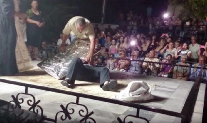 ΒΙΝΤΕΟ-Θαυματουργή εικόνα χτυπιέται μόνη της σε πανηγύρι στην Καβάλα-ΠΡΟΣΟΧΗ ΣΚΛΗΡΕΣ ΕΙΚΟΝΕΣ