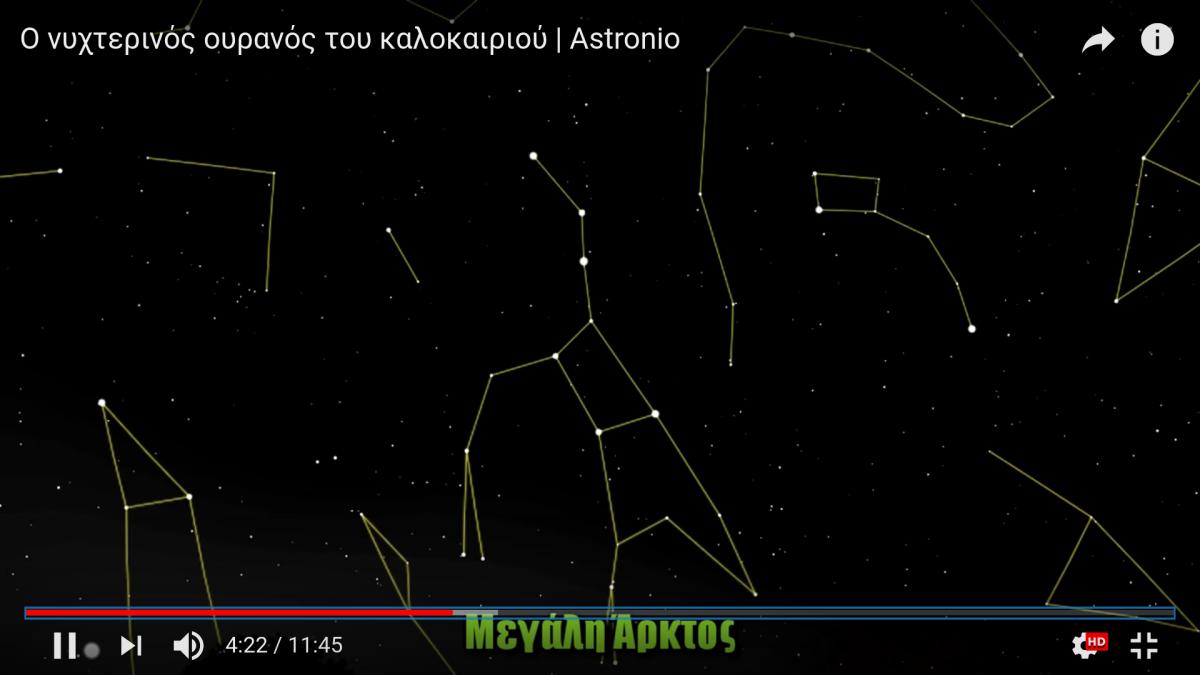 Ο νυχτερινός ουρανός του καλοκαιριού (βίντεο)