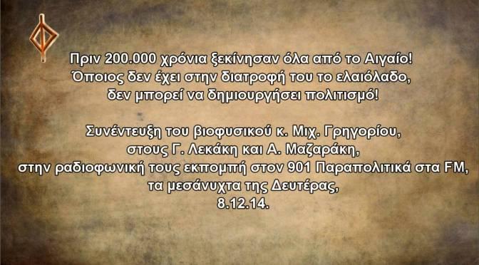 Πριν 200 000 χρόνια ξεκίνησαν όλα από το Αιγαίο… (βίντεο)