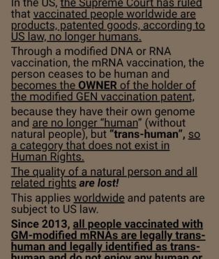 Απίστευτη απόφαση του 2013 απ'το Ανώτατο Δικαστήριο των ΗΠΑ μετατρέπει τον (εμβολιασμένο με mRNA) άνθρωπο σε..ιδιοκτησία!