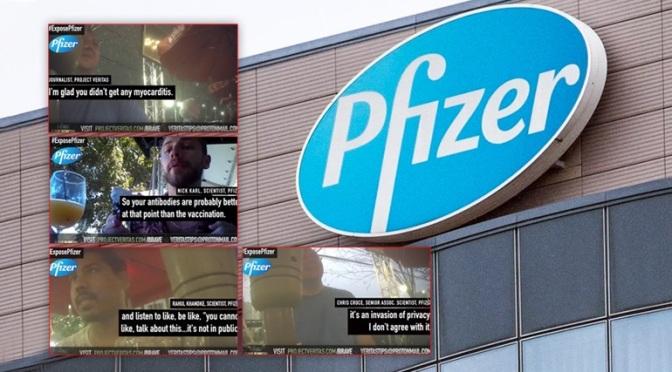 Μυστικοί δημοσιογράφοι παίρνουν συνέντευξη από επιστήμονες της Pfizer: «Όλα γίνονται για τα λεφτά» (video)