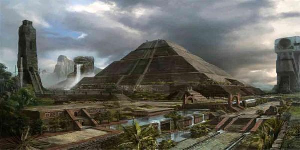 Πυραμίδες και κτίρια των Μάγιας μακέτα του Ηλιακού μας Συστήματος